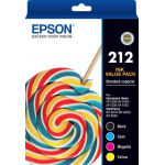 Epson 212 Ink Cartridge Standard Value Pack (1BK,1C,1M,1Y)