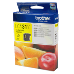 Brother LC-131Y Original Yellow Ink, 300 Page Yield