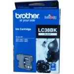 Brother LC 38BK Original Black Ink 300 Page Yield