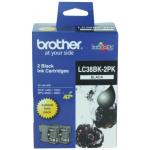 Brother LC 38BK2PK Original Black Ink Cartridge Twin Pack