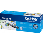 Brother TN-257C Original High Yield Cyan Toner Cartridge 2,300 Pages