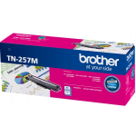 Brother TN-257M Original High Yield Magenta Toner Cartridge 2,300 Pages