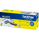 Brother TN-257Y Original High Yield Cyan Toner Cartridge 2,300 Pages