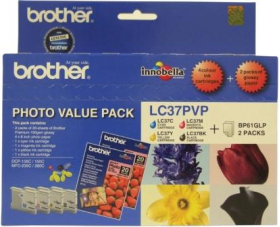 Brother LC 37PVP Original Ink Photo Value Pack