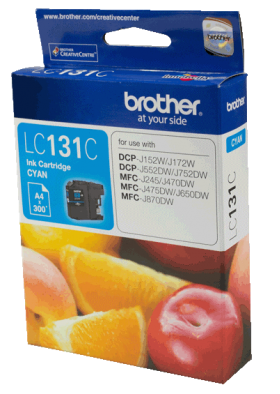 Brother LC 131C Original Ink 300 Pages Yield