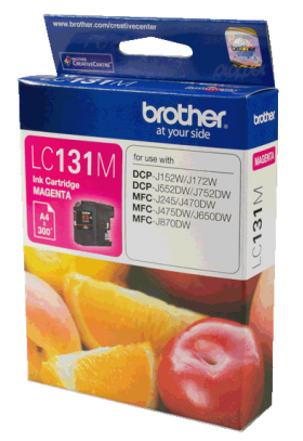 Brother LC 131M Original Magenta Ink 300 Page Yield