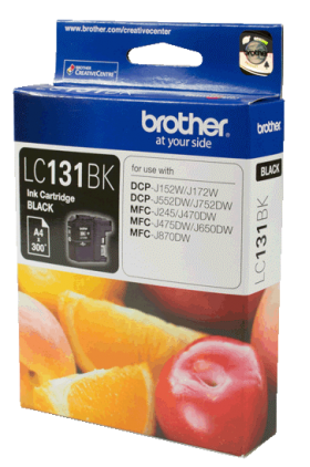 Brother LC 131BK Original Ink 300 Pages Yield