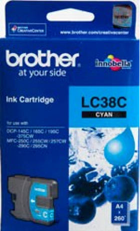Brother LC 38C Original Ink 260 Page Yield